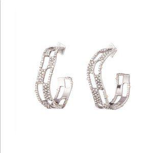NWOT Alexis Bittar Silver Crystal Earrings
